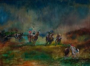 """""""The Polo Match"""" circa 2007 by Rolando Diaz."""