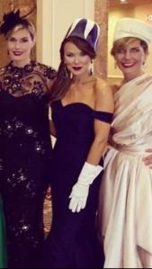 Carmen Surgent, Tiffany Hendra and Melissa Rountree in Binzario Couture.