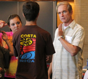 DSMA Director Kevin Cook teaches theater to students.